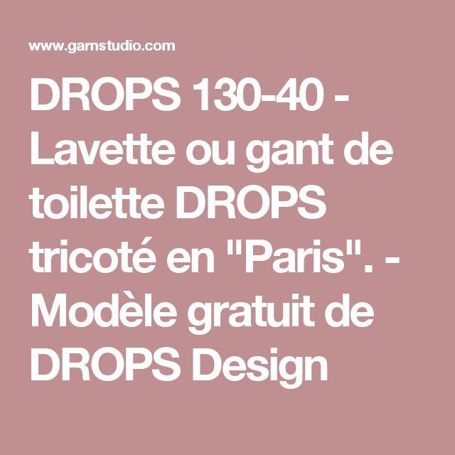 """DROPS 130-40 - Lavette ou gant de toilette DROPS tricoté en """"Paris"""".  - Modèle gratuit de DROPS Design"""