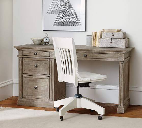 Livingston Small Desk | Pottery Barn as bedside table