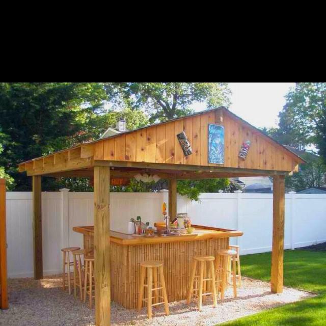 17 best ideas about tiki bars on pinterest outdoor tiki for Homemade tiki bar pics