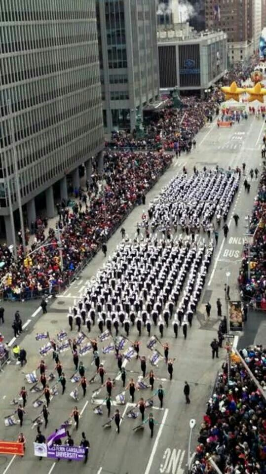 My Alma Mater, Western Carolina University, marching in the 2014 Macy's Thanksgiving Day Parade!