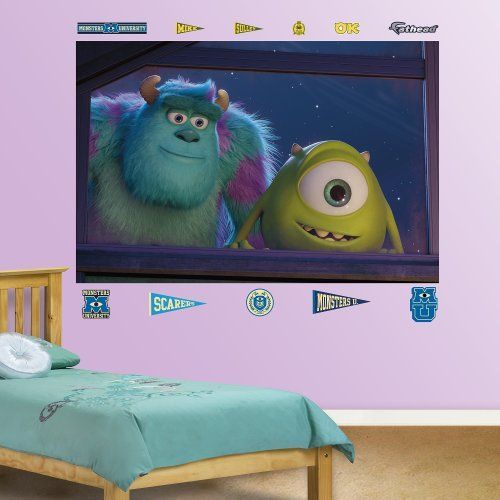 FATHEAD Monsters University Mike and Sulley Window Mural Wall Dcor -- Learn more by visiting the image link.