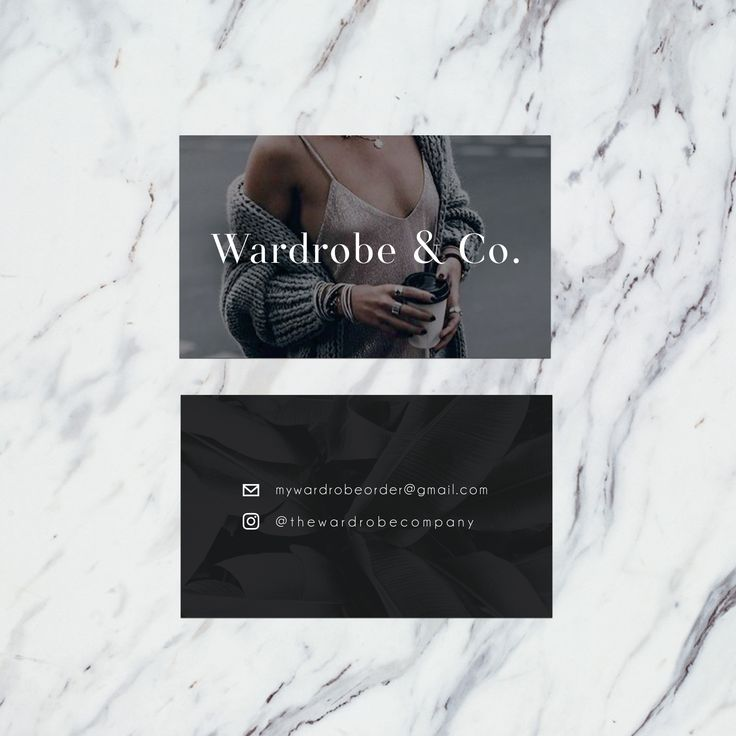 The Wardrobe & Co | Branding | Business Card Design #layout #brand #businesscards #design #graphicdesign #inspiration #work #texture #fashion #onlineshopping