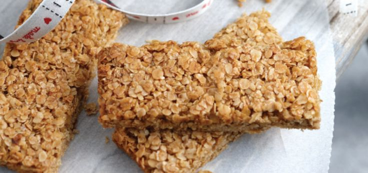 Irish oat flapjacks made with kerrygold grass fed butter