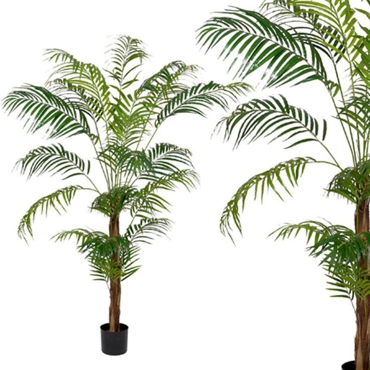 Palmier areca artificiel en pot hauteur 205 cm EXOTIC