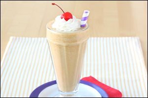 HG's low-cal peanut butter milkshake will bring all the boys to the yard... and everyone else too! Can't get much yummier than this one!