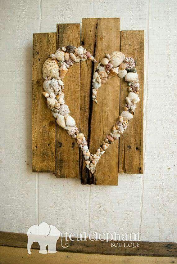 Shells & reclaimed wood