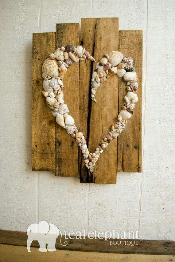 Shells & reclaimed wood