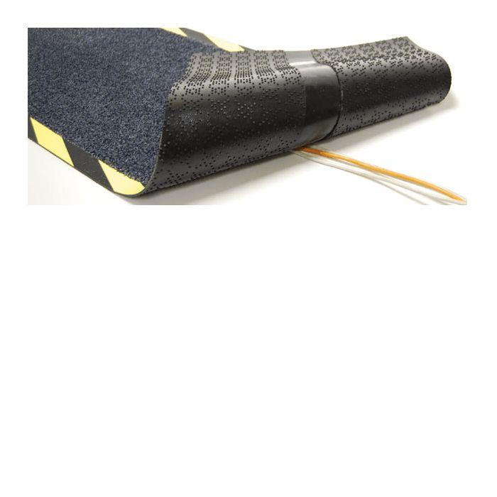Kable Mat Wycieraczka przemysłowa (40x120cm) .Dywanik gumowy Kable-Mat - Dla większego bezpieczeństwa! Luźno puszczone kable stanowią zagrożenie w biurach i w pomieszczeniach produkcyjnych, którego nie należy ignorować. Aby zapobiec tego rodzaju niebezpieczeństwom, zaprojektowaliśmy matę Kable-Mat. Można ją z łatwością położyć na luźnych