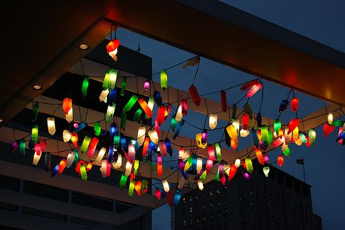 Recycled plastic bottle lights :-)
