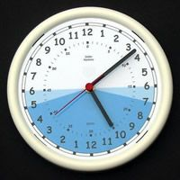 24 Hour Intensive Care Day Night Clock