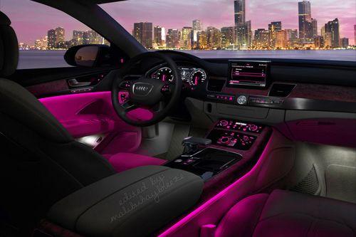 pink car interior lights transporters pinterest. Black Bedroom Furniture Sets. Home Design Ideas