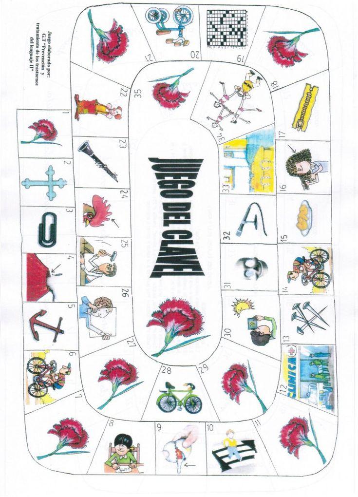 """""""Juegos de la oca por fonemas"""" ayudar a los niños a pronunciar correctamente es mucho más divertido. El juego es como el de la oca, pero cada vez que el niño cae en una casilla tiene que decir el n…"""