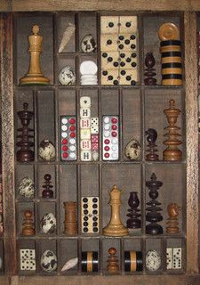 This would be such a cool way to use a typeset tray! LOVE IT! Vintage Games Collage by Finchley Paper Arts, via Flickr