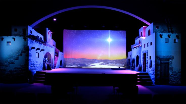 Chad Ellenburg fromPleasant Valley Churchin Winona, MN brings us this great Bethlehem city stage design. Their goal was to create a street that might run through the middle of Bethlehem. The problem they usually face is that the depth of their stage does not allow for a lot. So, they solved this with forced perspective.All of the buildings moved toward the vanishing point on the horizon. Chad used perspective lines in Photoshop to make sure the buildings worked. The construction was…