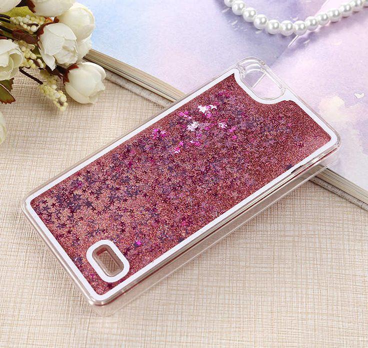 Bling Liquid Quicksand Shell Phone Case for Huawei P8 lite P9 P8 P7 Honor 4C 5X 6 plus 6 7 4X Flowing Sand Glitter Stars Fundas