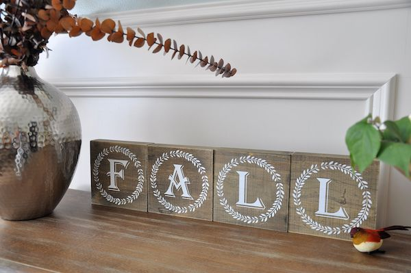 Fall Decor And Block Letters From Hobby Lobby Too Cute