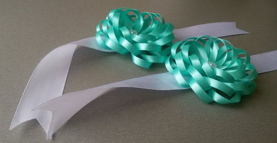 Wedding corsage blue Fabric Corsage fabric by Rocreanique