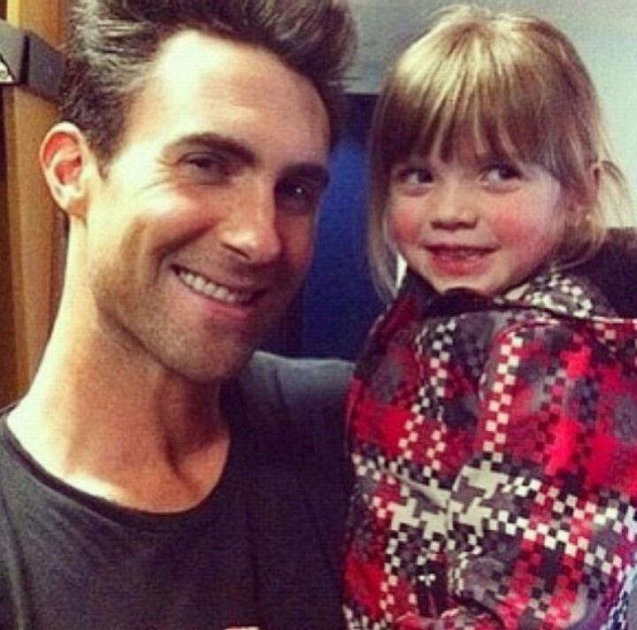adam and his goddaughter...sam farrar's daughter | Just ...