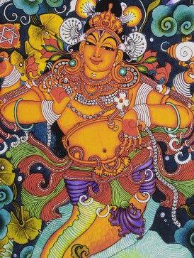 Matsya Kerela Murals 19.6in x 14in