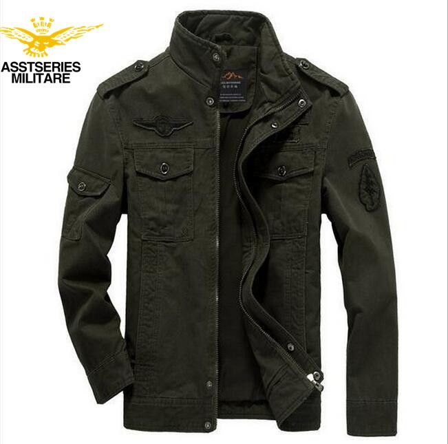 ASSTSERIES 2017 New Arrival Military Army soldier Jacket Men Washing cotton Air force one jacket male Size Spring Autumn