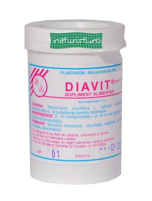 Diavit 60 cps - este un produs natural, destintat persoanelor care suferă de diabet.