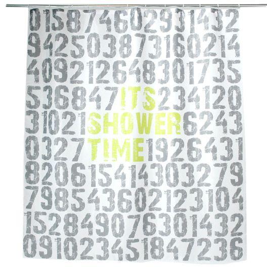 Rideau de douche en plastique Shower time SENSEA, gris, 180 x 200 cm