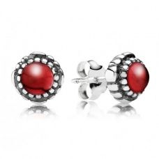 Pandora | Silver Garnet January Birthstone Stud Earrings 290543GA