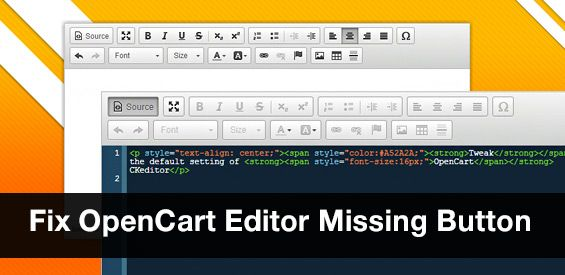 Fix OpenCart CKEditor Missing Button