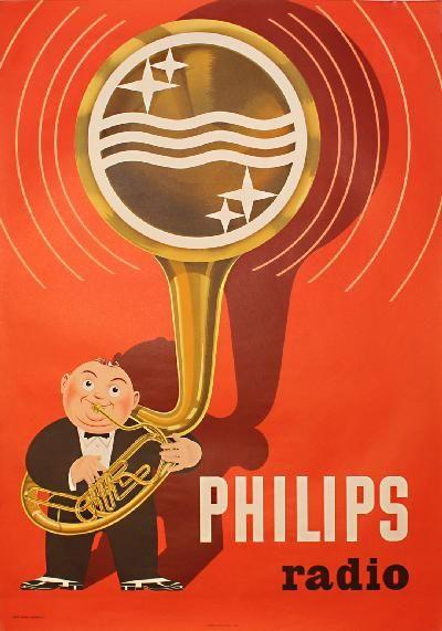 Vintage Poster - Philips Radio | #vintage #retro
