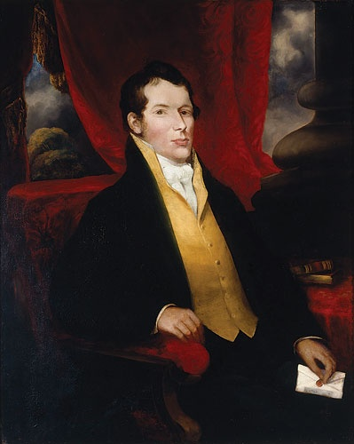 Portrait of John Macarthur, c. 1850s? Artist unknown  Find more information about this painting: http://www.sl.nsw.gov.au/events/exhibitions/2008/politicspower/images/2.html  From the collection of the State Library of New South Wales.