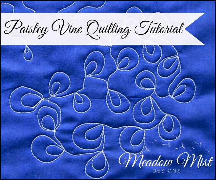 Paisley Vines A Quilting Tutorial Meadow Mist Designs
