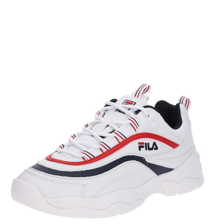 Schuhe Damen Absatz - Damen FILA Sneaker Ray Low Wmn blau rot weiß ...