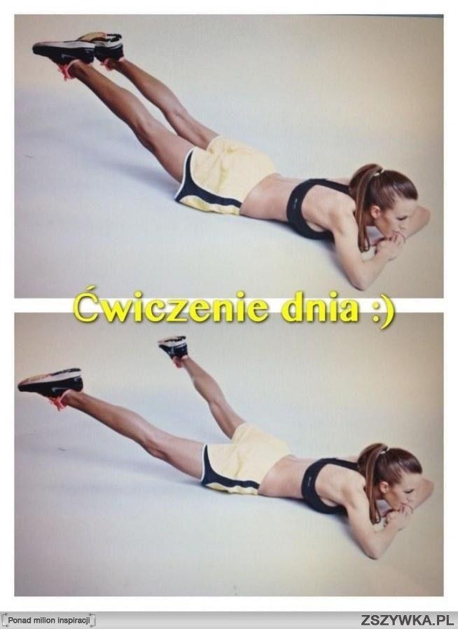 Ćwiczenie dnia :)  Jędrne pośladki, smukłe uda :)   Połóż się na brzuchu, dłonie ułóż pod brodą, napnij nogi mocno, po same końce palców, żeby oderwały się od maty   Napięte nogi unieś najwyżej jak potrafisz i na przemian otwieraj je i zamykaj   Spróbuj 3x po minimum 30 sekund   Jeżeli to ćwiczenie sprawia Ci trudność,połóż pod biodra poduchę :)