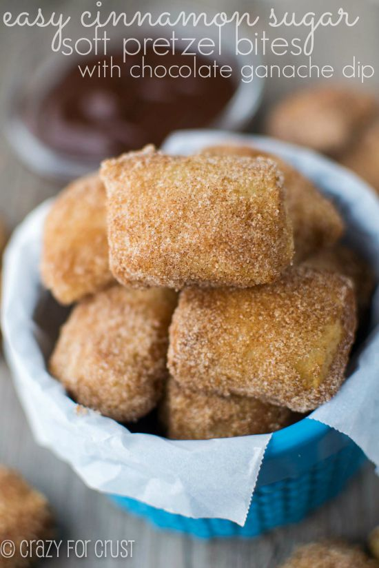 Easy Cinnamon Sugar Soft Pretzel Bites - Crazy for Crust