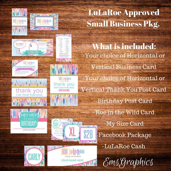 LuLaRoeBusiness CardBusiness PackageSmall by EmsGraphics on Etsy
