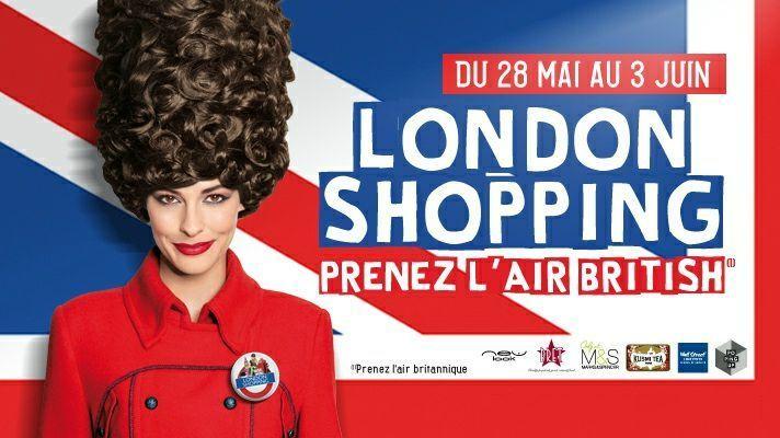 Flyer opération événementielle London Shopping du Centre Commercial La Défense
