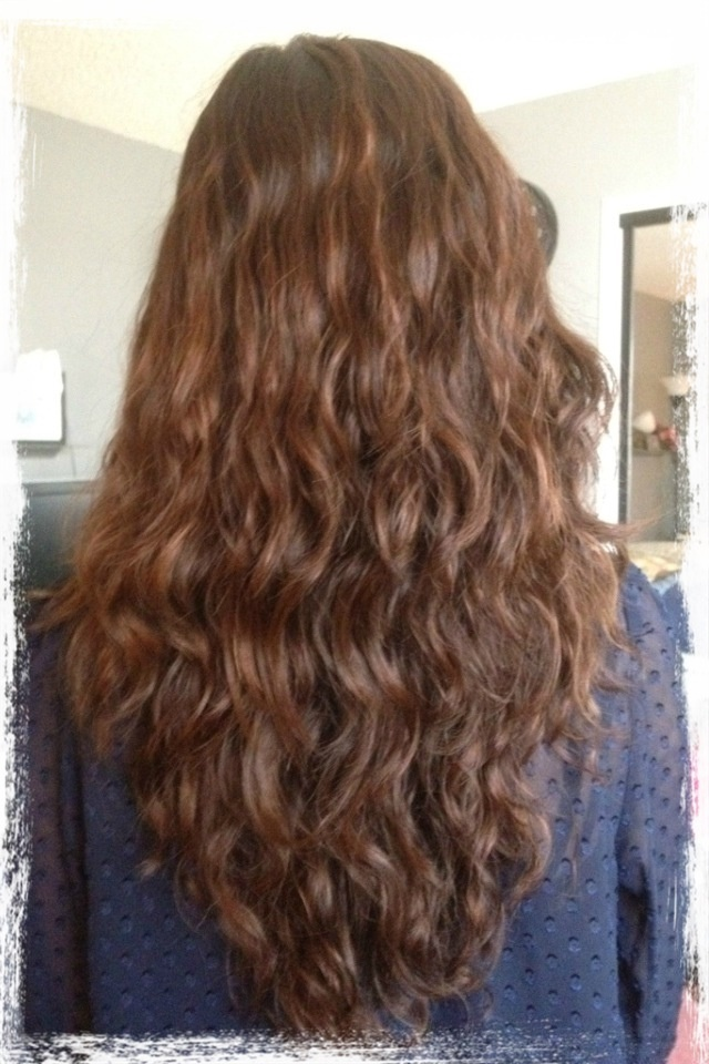 My first perm! Stylist used 3/4'' curling rods