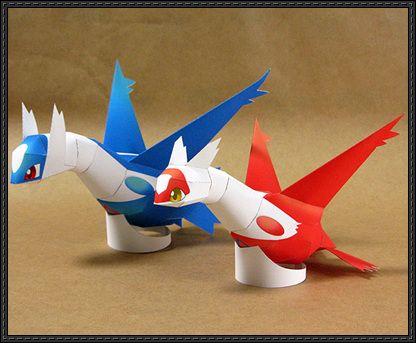 Pokemon - Latias and Latios Free Papercrafts Download - http://www.papercraftsquare.com/pokemon-latias-latios-free-papercrafts-download.html