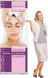 Rollup-Banner Exclusive Beauty- und Wellness-Angebote