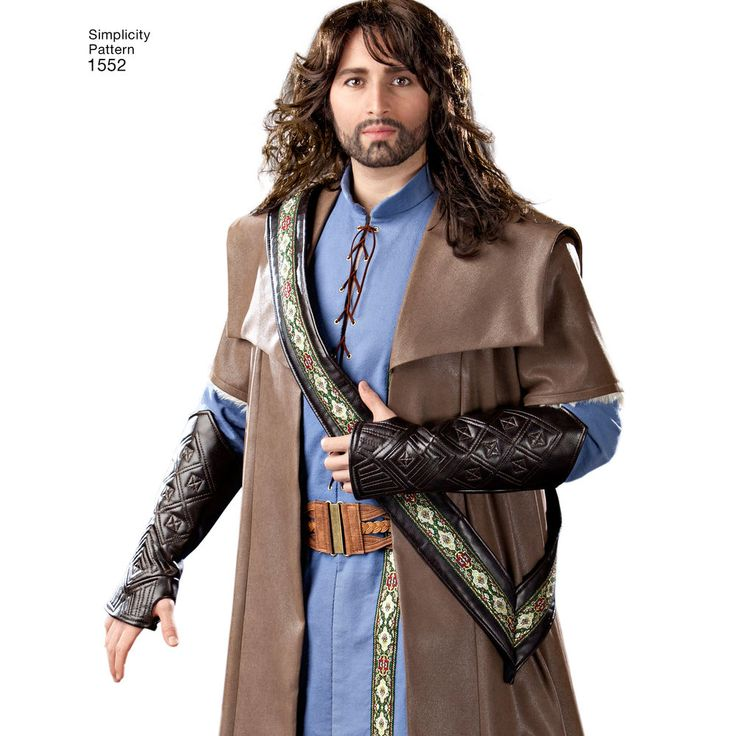 """men's medieval sleeveless or long sleeved tunic can be made with buttons or   laces down the front. the cloak has sleeve and collar variations. also comes with sash, belt and boot   tops.<p></p><img src=""""skins/skin_1/images/icon-printer.gif"""" alt=""""printable pattern"""" /><a href=""""#""""   onclick=""""toggle_visibility('foo');"""">printable pattern terms of sale</a><div id=""""foo"""" style=""""display:none; margin-  top: 10px;"""">digital patterns are tiled and labeled so you can print and assemble in the comfo..."""