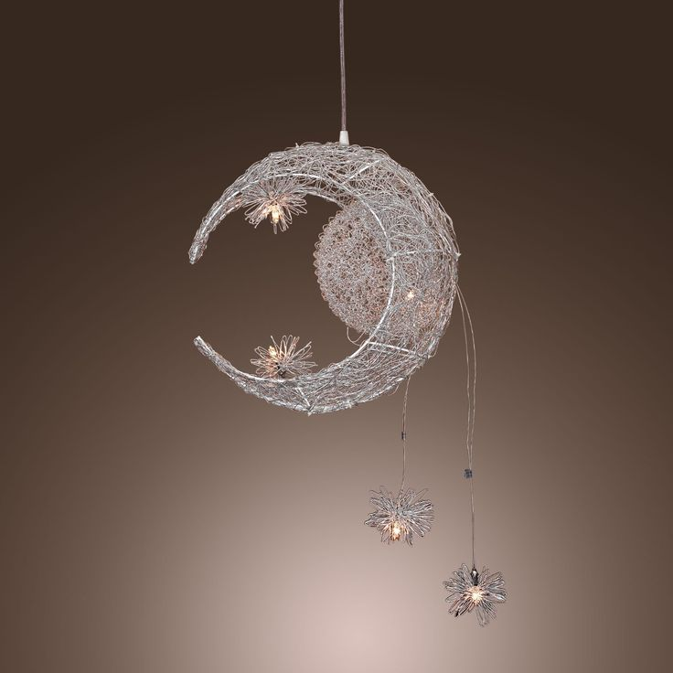 LightInTheBoxR Moon Star Featured Pendant Light With 5 Lights Globe Mini Style Home Ceiling Fixture For Dining Room Living