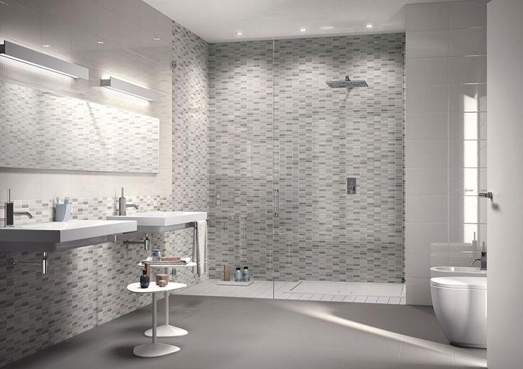 Bagni con piastrelle a mosaico n.06
