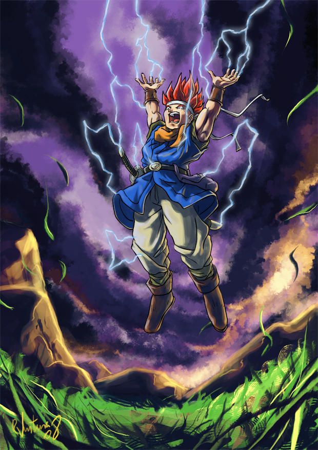 Crono prepares Lightning by rafaelventura   Chrono Trigger Fan Art