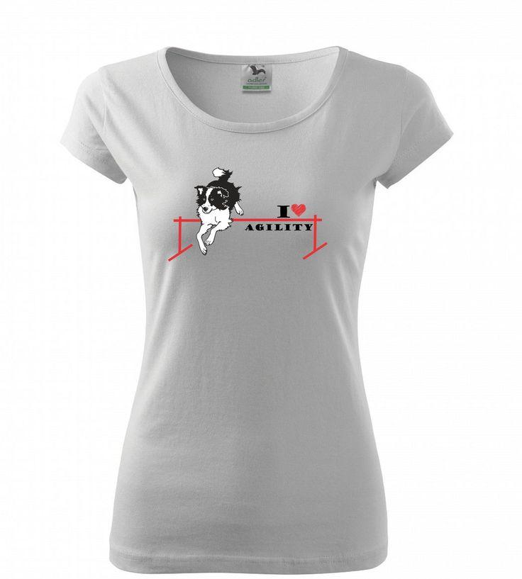 Agility nejsou jen zábava, agility jsou závislost! Dámská trička Pure nebo klasická unisexová trička Heavy v barvách bílá a černá s červeno černým nebo červeno bílým potiskem. 199 Kč