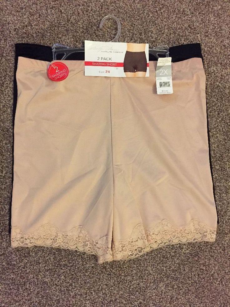 2X MARILYN MONROE Shaping Shorts/Control knickers Set UK/USA-XXL BNWT RRP$24