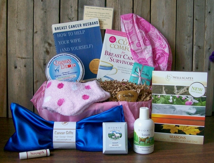 Great ideas for gift baskets for those struggling with cancer.  Might make one myself or buy one from here.