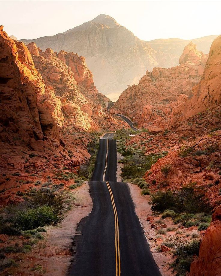 "7,977 Likes, 116 Comments - Instagram of the Southwest (@igsouthwest) on Instagram: ""A timelessness view, seemingly endless road.  This view of Valley of Fire never lets us down.…"""