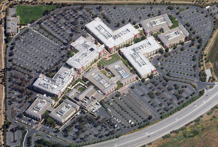 The new Facebook headquarters in Menlo Park, California