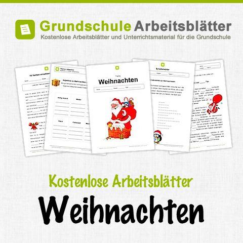 Kostenlose Arbeitsblätter und Unterrichtsmaterial zum Thema Weihnachten in der Grundschule.