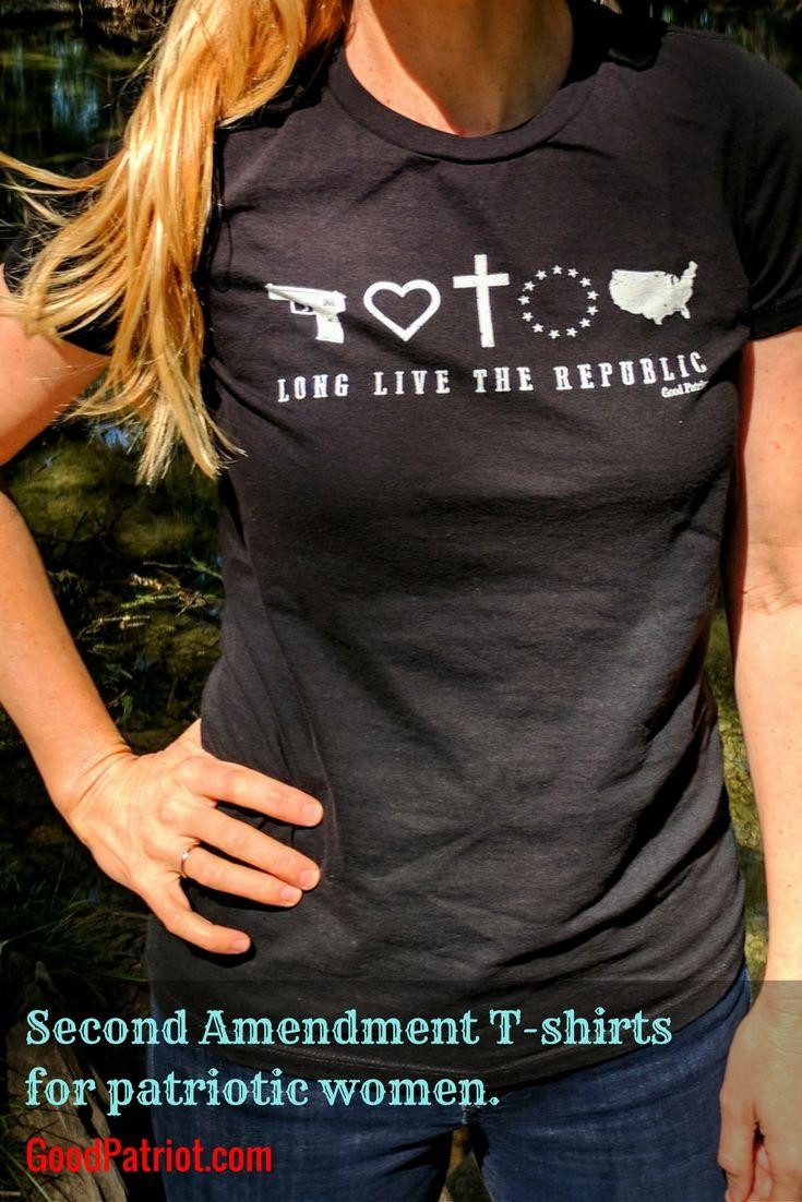Design your own t-shirt hamilton - 2nd Amendment T Shirts For Women Black Gun Shirt With A Feminine Cut For Girls